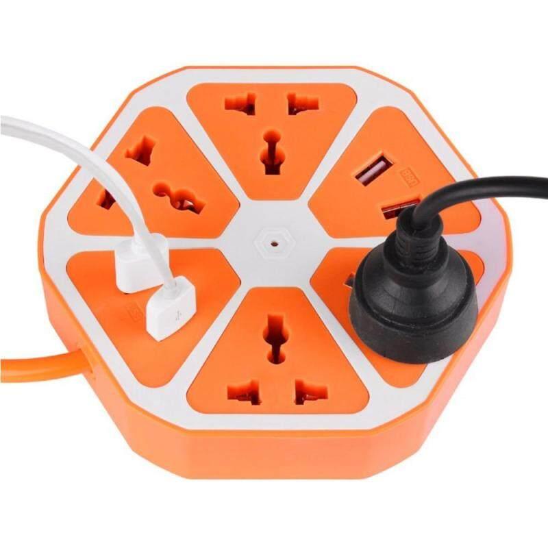 Bsex USB Quick Charger 4 Way Port Universal Outlet Power Socket Strips Desktop On OFF (US Plug)