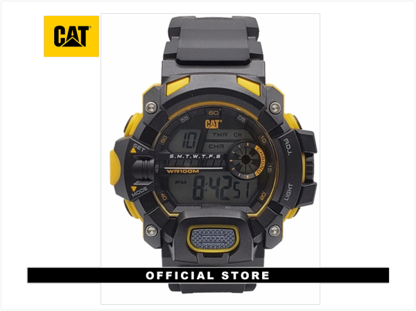 CAT 1A Series Digital Black 1A-167-21-241 Silicon Strap Watch Malaysia