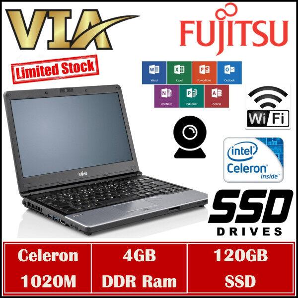 【STUDENT BOOK】FUJITSU LIFEBOOK S762/G~CELERON 1020M~4GB RAM~120GB / 240GB SSD~WEBCAM Malaysia