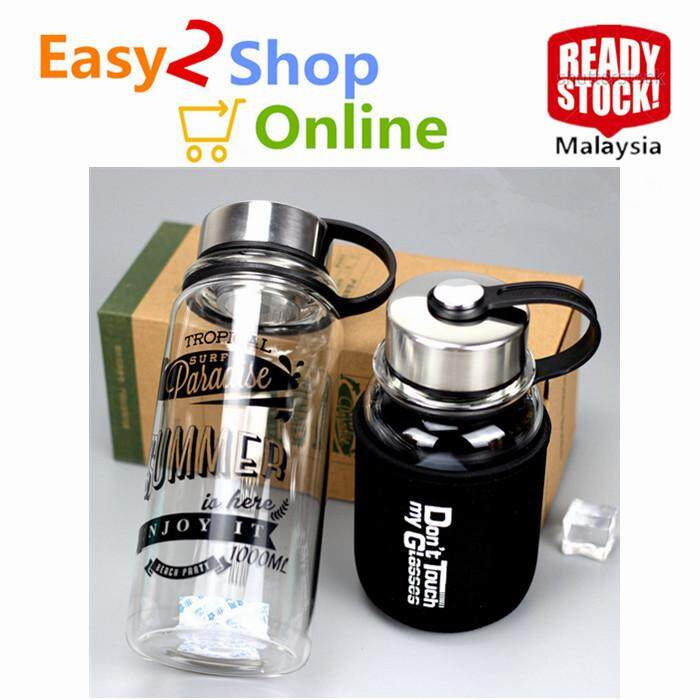 Ready Stock Korean Creative Summer Glass Bottle 1000ml By Easy2shoponline.