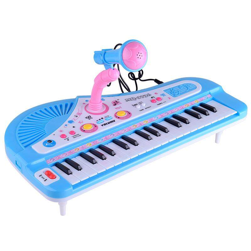 42b89f5f7741 37 Key Piano Musical Toy Microphone Kids Electronic Multifunctional Keyboard  For Child Gift
