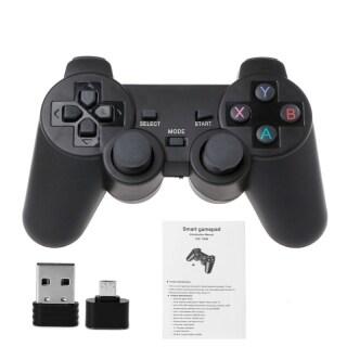 Bộ Điều Khiển Không Dây 2.4G, Tay Cầm Chơi Game + Bộ Chuyển Đổi OTG Micro USB, Cho TV Box Điện Thoại Android PS3 thumbnail
