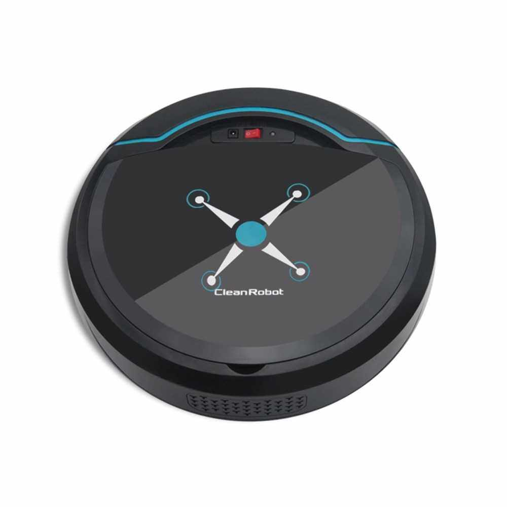 Home Use Rechargeable Smart Vacuum Cleaner Movable Floor Cleaning Robot (Black)