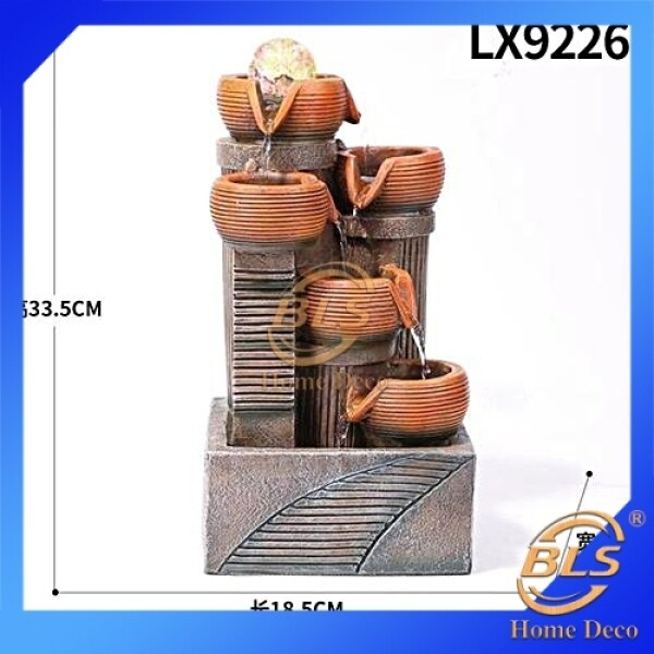 WATER FOUNTAIN LX9226 WATER FEATURE INDOOR OUTDOOR FENG SHUI HOME DECORATION
