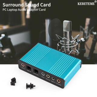 KEBETEME Card Âm Thanh USB, Bộ Chuyển Đổi Thẻ Âm Thanh Ngoài 6 Kênh 5.1 Chipset CM6206, Cho Máy Tính Xách Tay Máy Tính Để Bàn thumbnail