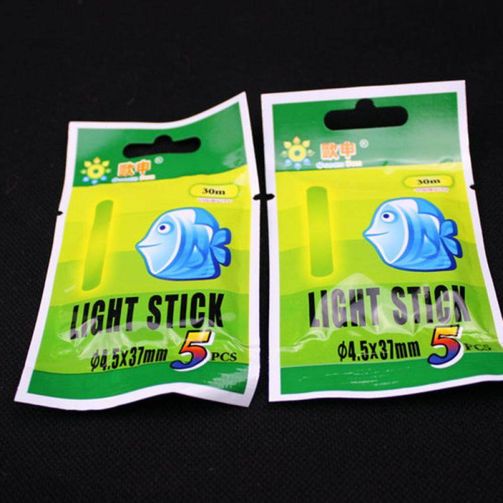 50PCS Chemical Night Fluorescent Float Lightstick Glow Stick For Fishing 2 Sizes