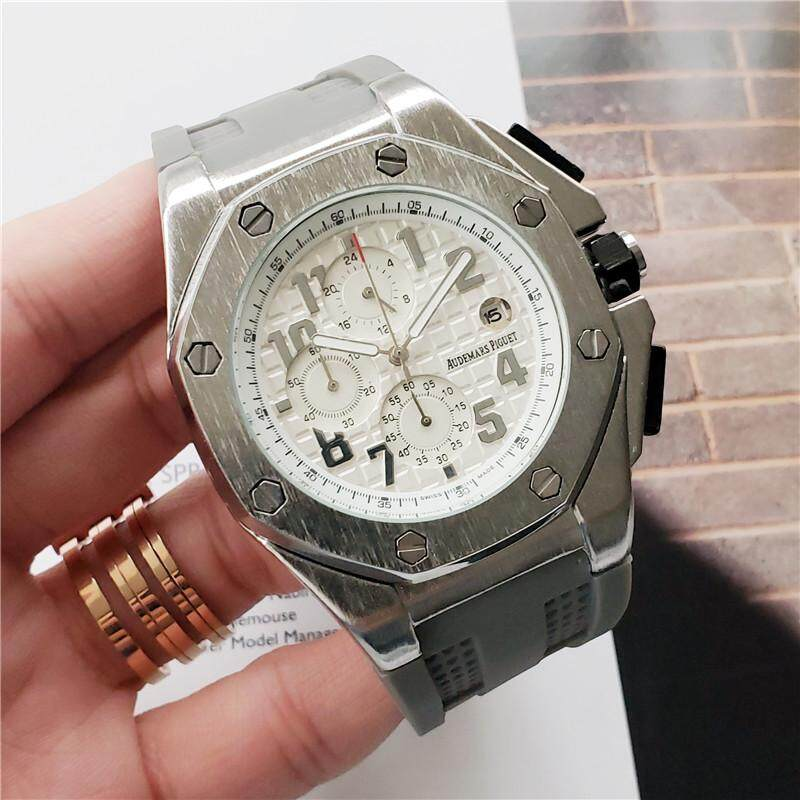 AP NEW Stainless Case Rubber Sports Waterproof Strap Dual Time+Calendar-45 MM Malaysia