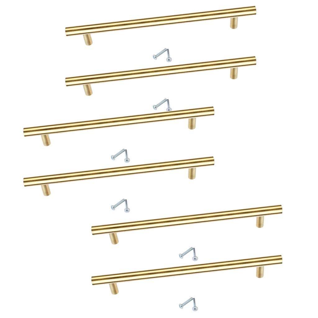 milageto 6 pieces Kitchen Cabinet Door Handle Stainless Steel T Bar Drawer Pulls Knob