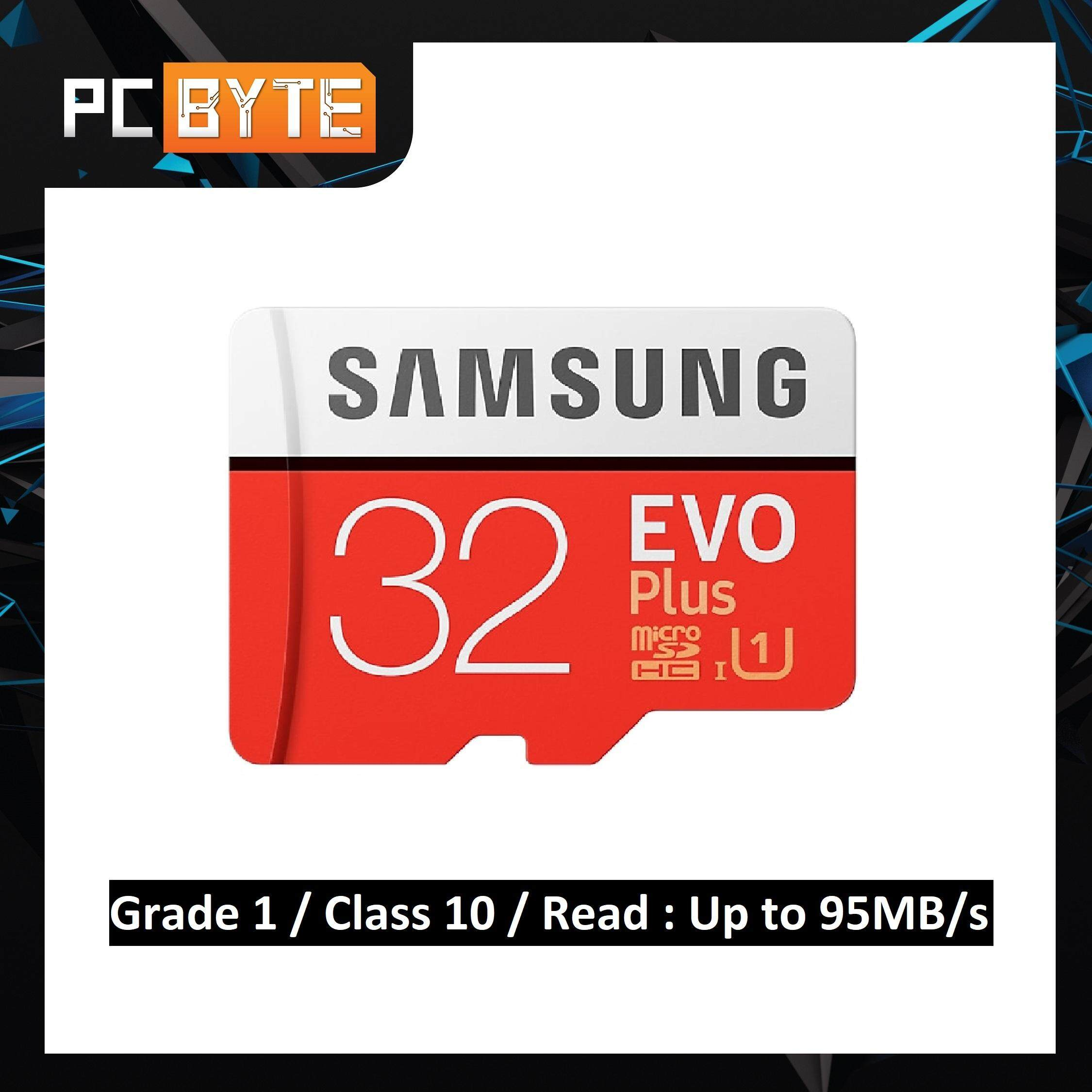 (100% Original & 2018 Edition)Samsung EVO Plus 32GB MicroSD Class 10 95MB/s  MicroSDHC UHS-I with FREE Adapter