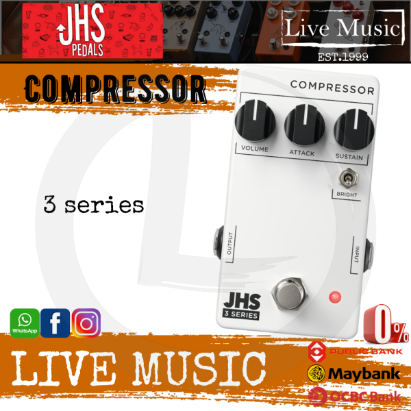 JHS 3 Series Compressor Guitar Effects Pedal Malaysia