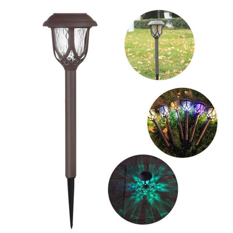 Mỗi 2 Gói Đèn LED Năng Lượng Mặt Trời Đèn Vườn Không Thấm Nước Đầy Màu Sắc Thay Đổi Độ Sáng Đèn Thảm Cỏ Cho Khu Vườn Ngoài Trời