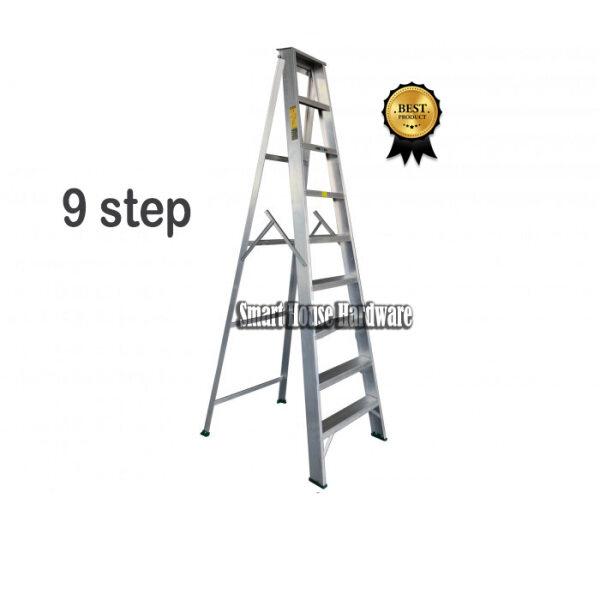 9 Step Single Sided Aluminium Ladder