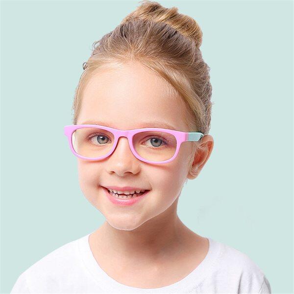 Mua Kính cho bé gái Tròng kính chống bức xạ ánh sáng xanh cho bé trai Bảo vệ mắt UV 400 Khung kính trẻ em Ống kính trong suốt