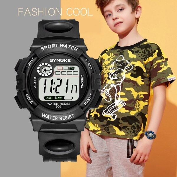 SYNOKE kids watch boys watches for children Colorful ligh watches Date Alarm Week Display Student Baby Girl digital Wristwatch Malaysia