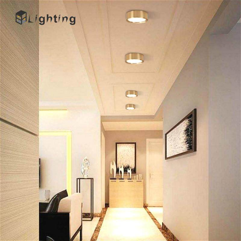 1 Pcs Ultra Thin 4 Color 5 W LED Ceiling Light Fixture Lamp Surface Mount Living Room Bedroom Bathroom Home Decoration Kitchen AC220 230V-7.5*3CM