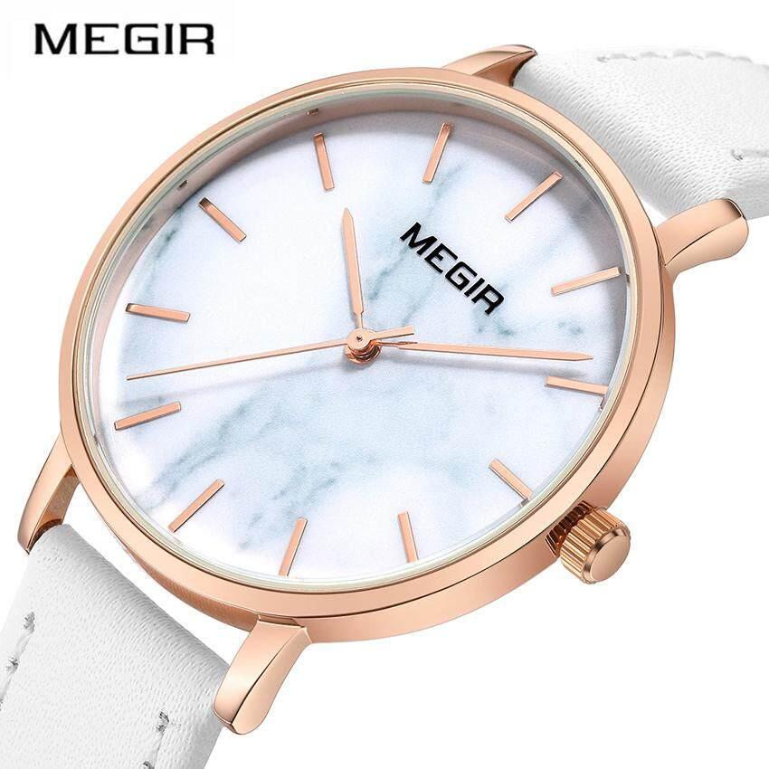 Megir Ladies Watches Women Quartz Wrist Watch Leather Band Strap Casual Lovers Girl Time Clock Women Female White Fashion Wristwatches Malaysia