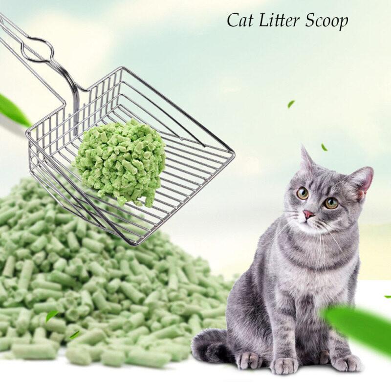 1 Cái Rỗng Chất Thải Làm Sạch Kim Loại Sifter Pet Cát Xẻng Kitten Cát Cleaner Cát Cát Cát Scoop Công Cụ Làm Sạch