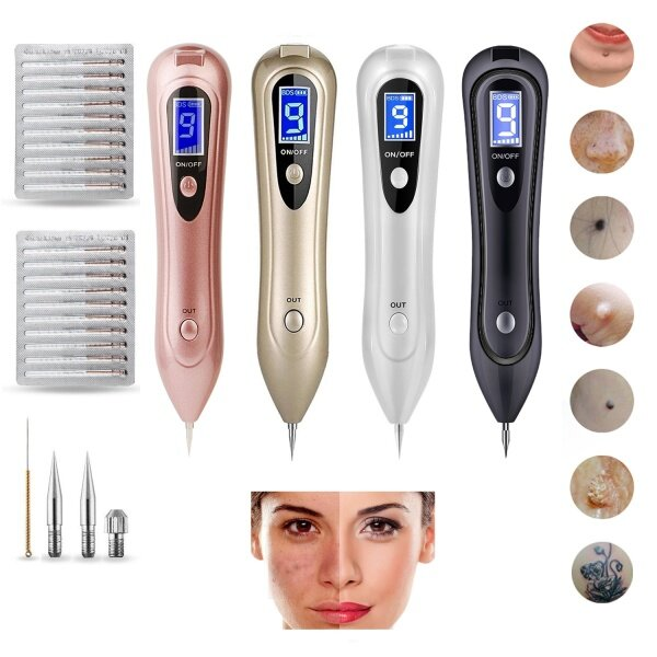 Buy LCD Screen Skin Mole Removal Pen Spot Removal Plasma Pen with 9 Speed Singapore