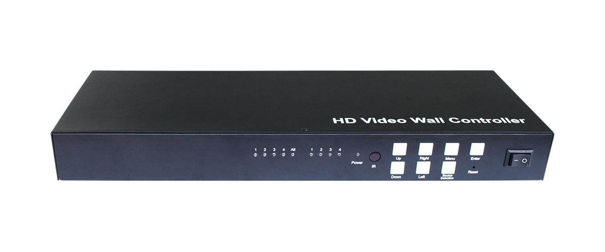 Full HD 1080p Mixed HDMI VGA Splitter Video Wall Controller 2x2 Video wall, 1 to 4 Split, Multi-Level Cascading, Multiple Mozaic Mode