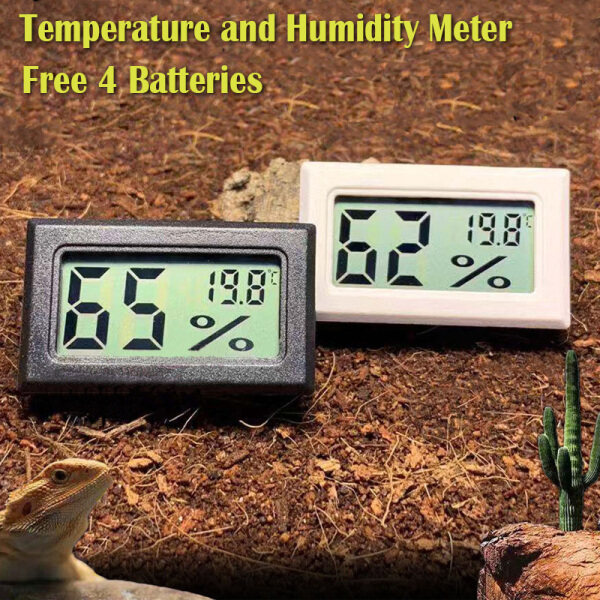 Digital Thermometer Electronic Thermometer Electronic Hygrometer Digital LCD Refrigerator Aquarium Thermometer Fish Tank Temperature (4 Batteries for Free) Malaysia