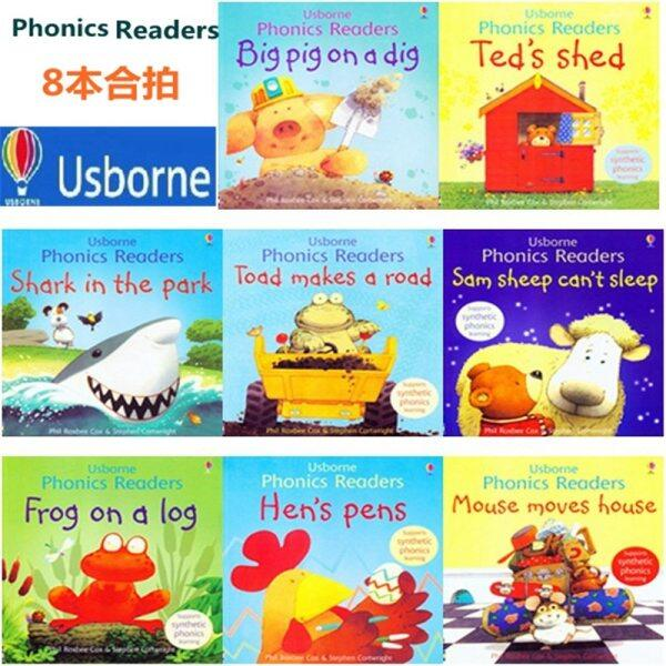 English Childrens Picture Book Original Enlightenment Warm Parent-Child Storybook Reading Phonics Readers 8Books/Set