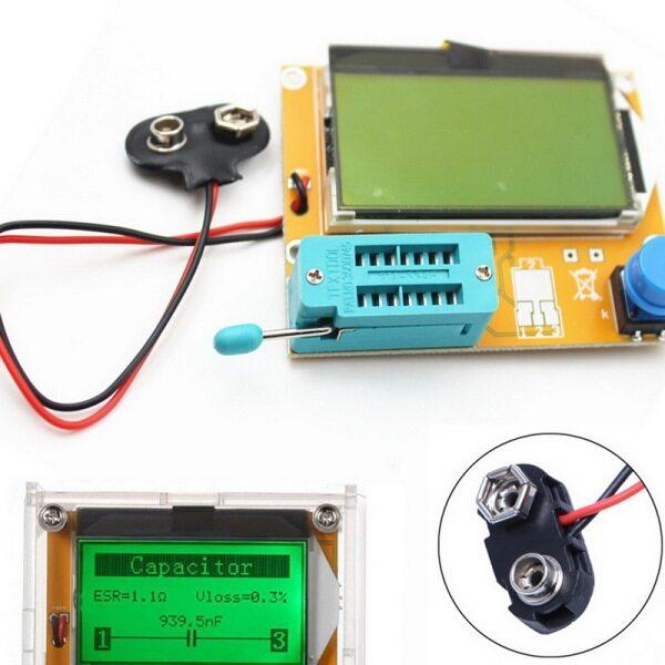 Bảng giá Bộ Đồng Hồ Tự Làm Đa Năng NPN PNP Điốt Tụ Điện Triode Điện Trở Cảm SCR MOSFET Cảm LCD Hiển Thị Tester