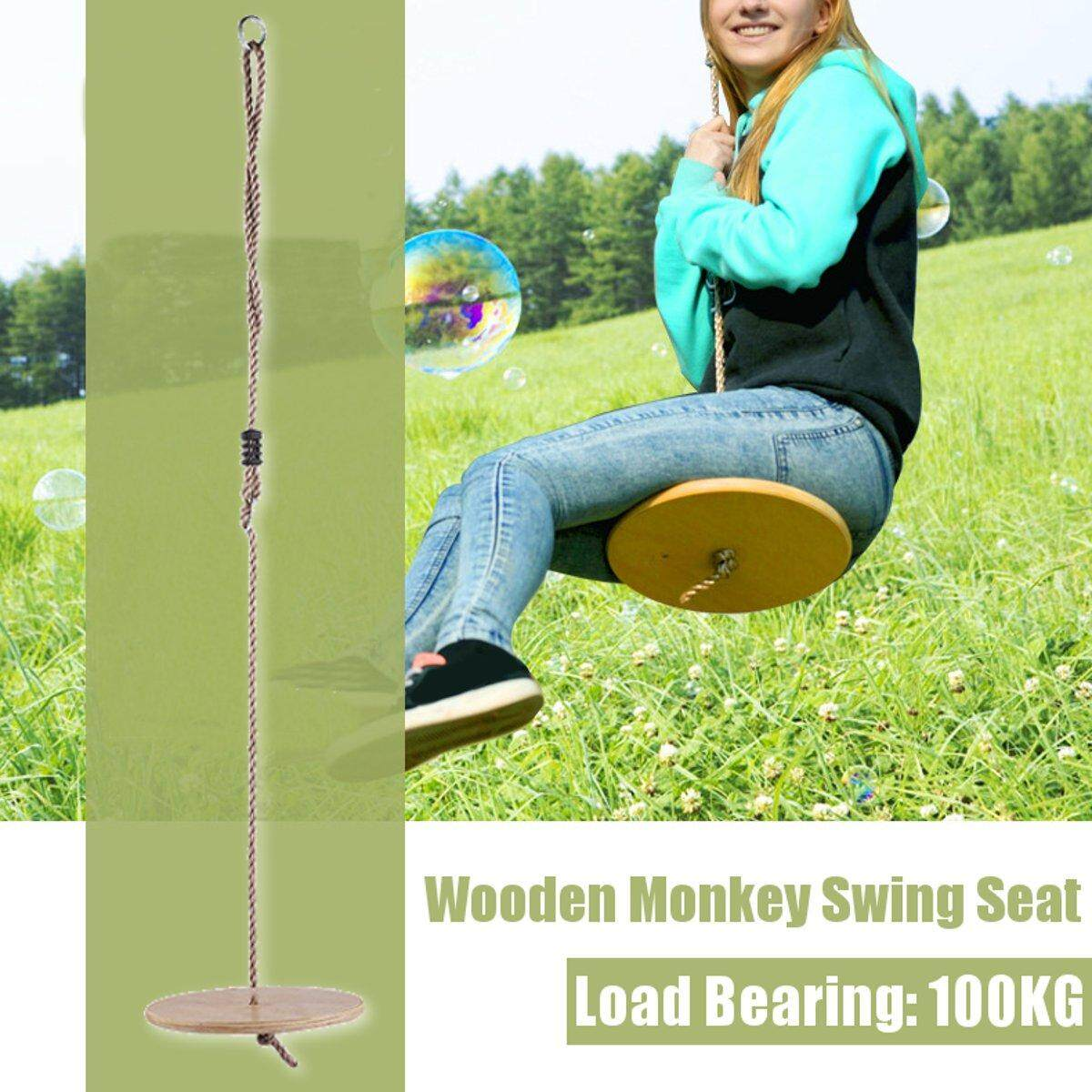 Wooden Monkey Swing Seat and Rope Kids Climbing Frame Tree House Garden Play