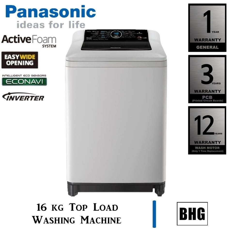 PANASONIC 16KG TOP LOAD WASHING MACHINE NA-FS16G4HRT