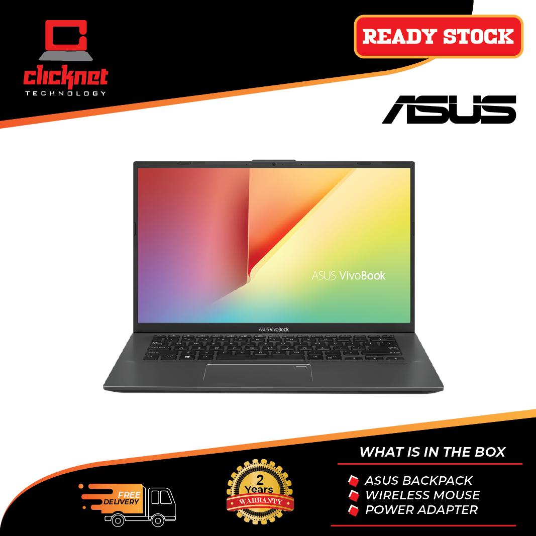 Asus Vivobook A412F-LEB093T 14  FHD Laptop Slate Grey (i5-8265U, 4GB, 512GB, MX250 2GB, W10) Malaysia