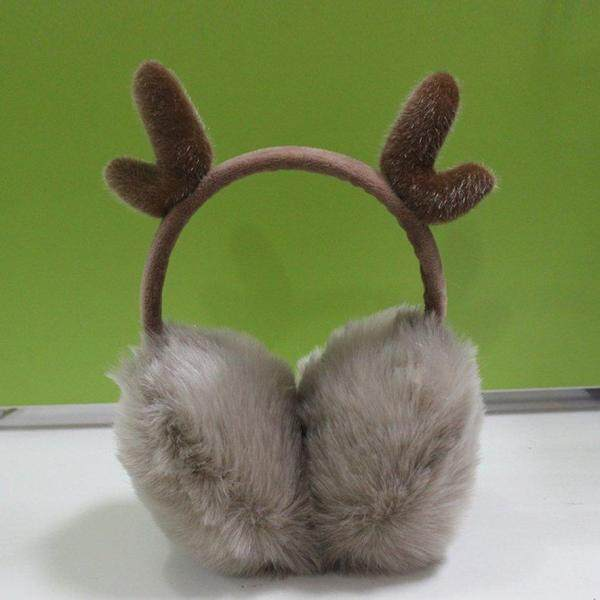 ANEXT Super Soft Plush Earmuff With Deer Horn Shape Decor Lovely Cute Cartoon Earmuff Outdoor Protective Ear Cover
