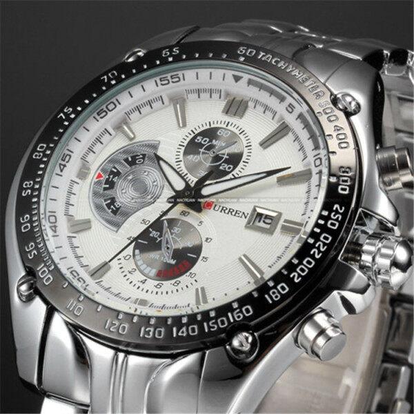 CURREN Full Stainless Steel Quartz Watches Mens Sport Wristwatch Waterproof Male Clock 8083 Malaysia
