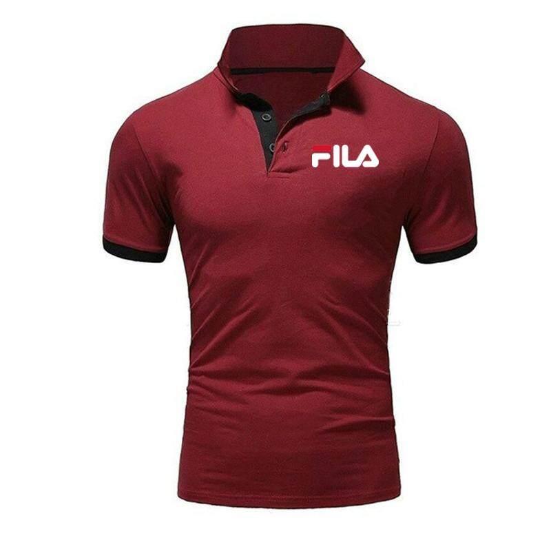 f9ad35f4 New Style New Arrival FILA_Spring Summer Hot Sale Polo Golf Shirts Spot  Men's T-Shirts Male Short Sleeve Tshirt Tops Shirts For Men Fashion Tshirts  ...