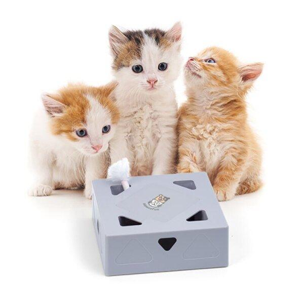 Điện Mèo Đồ Chơi, Sqaure Hộp Ma Thuật, Gậy Trêu Chọc Mèo Thông Minh Điên Trò Chơi Đồ Chơi Lông Vũ Cho Mèo Tương Tác Mèo Bắt Chuột