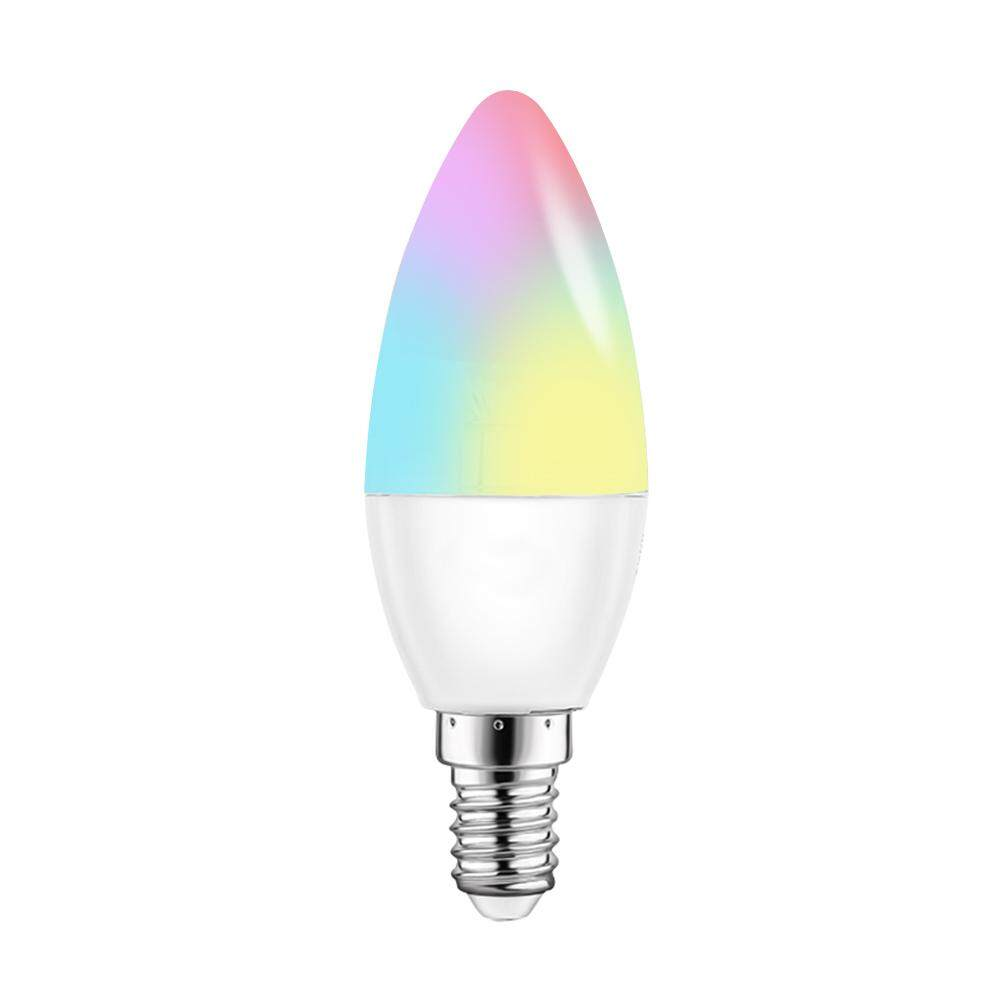 V16-C Smart WIFI LE-D Bulb RGB+W LE-D Candle Bulb 6W E14 Dimmable Light Phone Remote Control Group Control Compatible with Alexa Goog-le Home Tmall Genie Voice Control Light Bulb