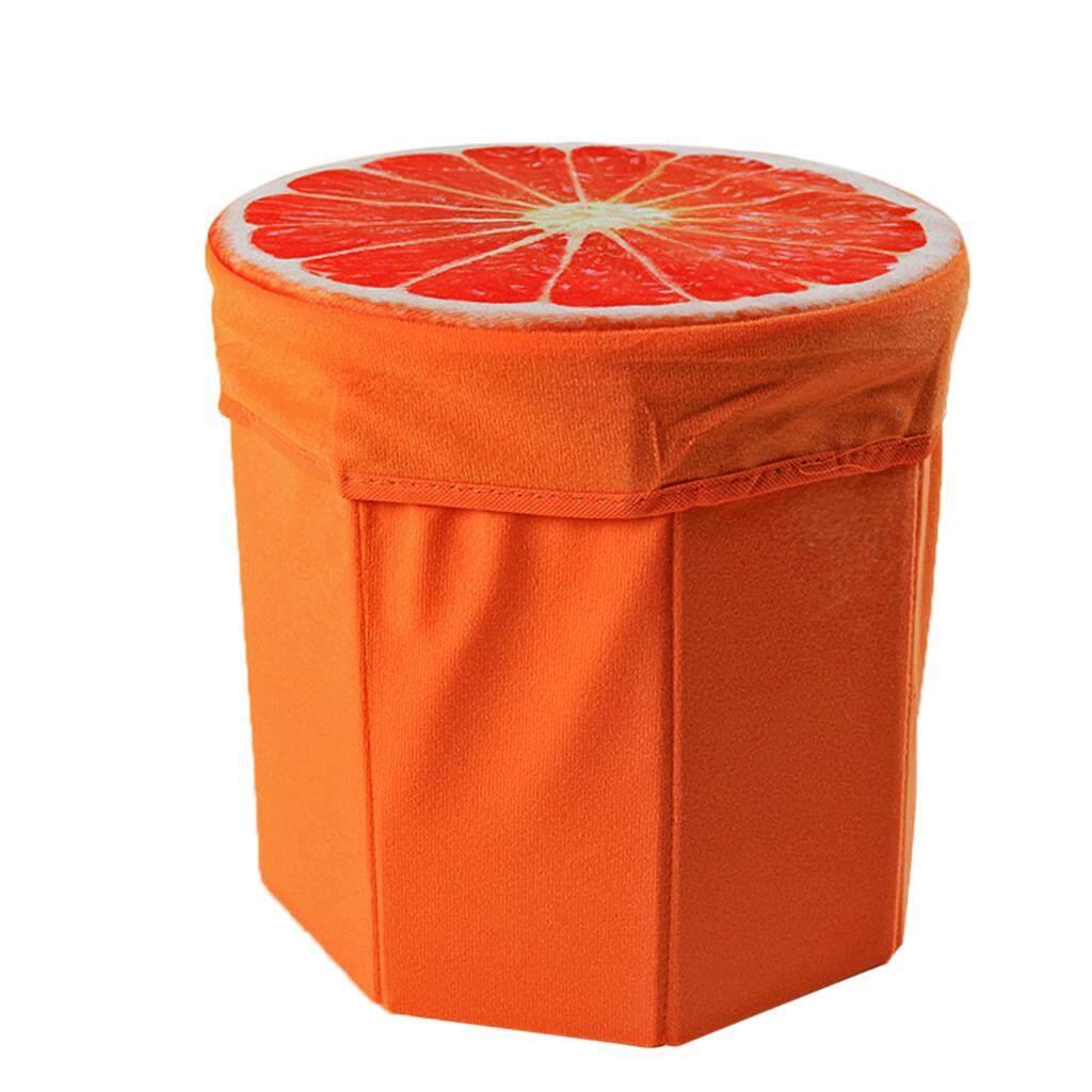 BolehDeals Cartoon Fruits Foldable Collapsible Storage Stool Footrest Stool