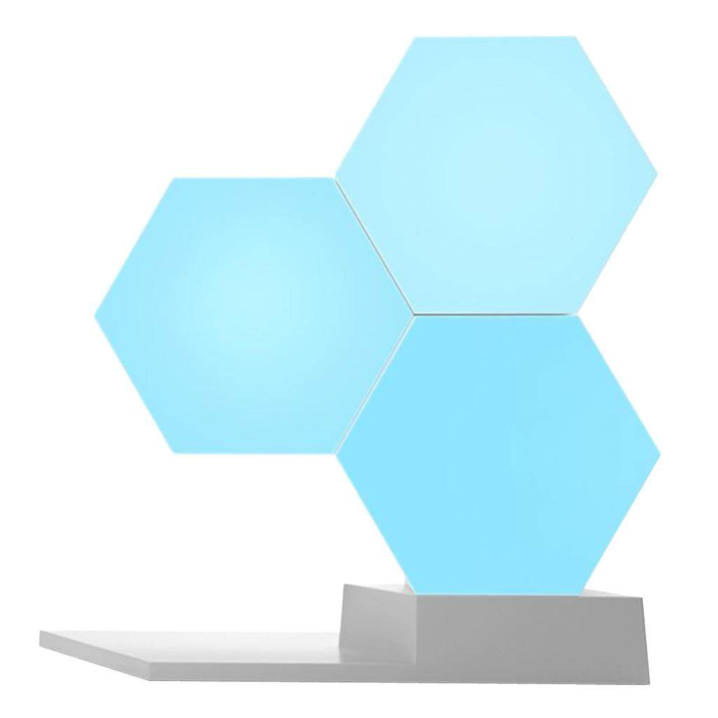 Perfk Hexagonal Shape Wall Light Creative Geometry Assembly Night for Home Decor