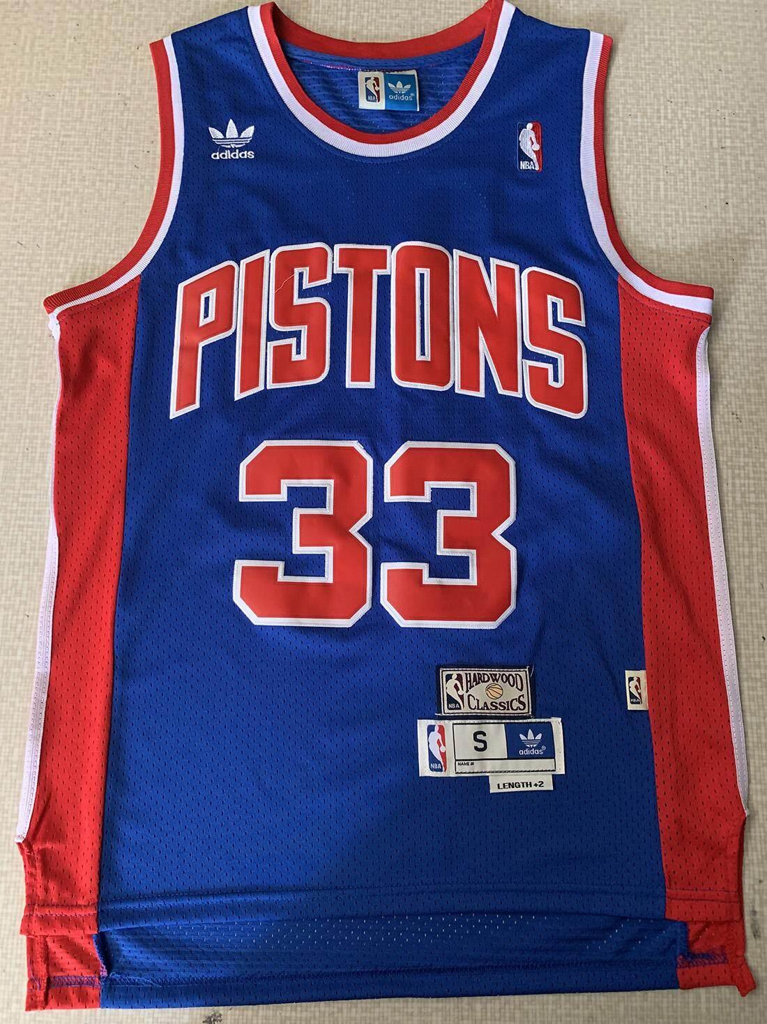 size 40 b4311 f450c Isiah Thomas & Grant Hill Detroit Pistons Mens Classics Swingman Jersey -  Blue