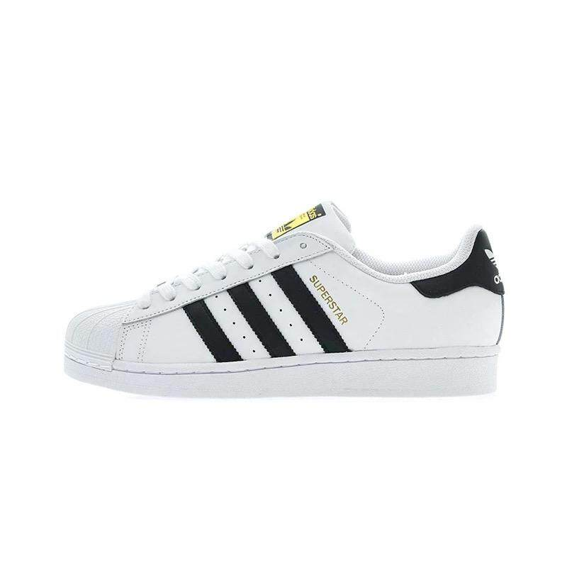 172ab34366c Original_Adidas shoes authentic men and women clover gold standard shell  head shoes white shoes