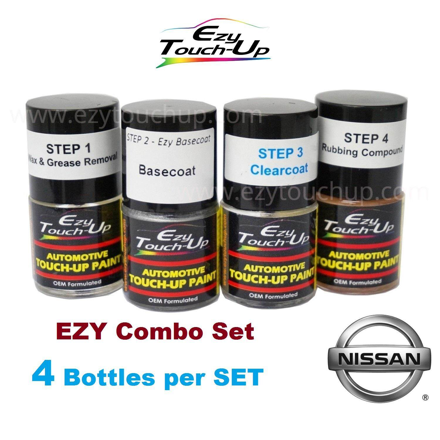 Ezy Touch Up Paint For NISSAN ( Imperial Umber - 4082 ) Combo Set