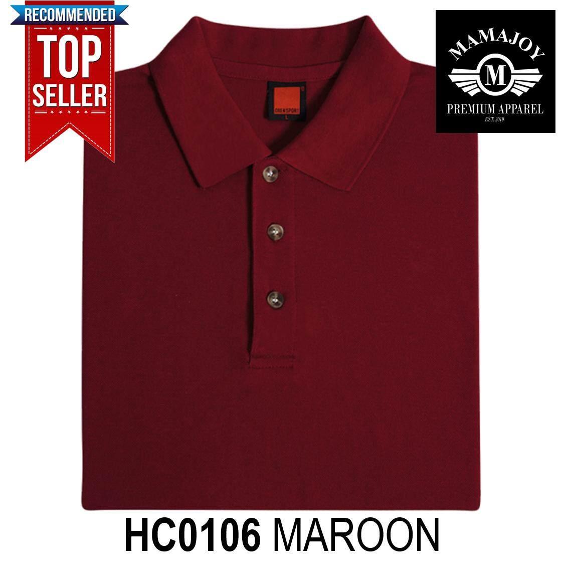 fac5f23b BEST OFFER! SALES! NEW! OREN SPORT HC01 Unisex Collar Short Sleeve Summer  Fashion Plain Honeycomb Polo Tshirt 230gsm (Colour : MAROON) HC0106