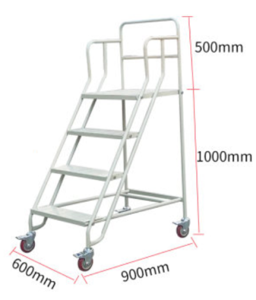 150x60x90cm with WHEEL Lightweight Steel Step Ladder with Hand Grip Folding Ladder Tangga Lipat Multifunction home house heavy duty roda double sided wide steps household safe supermarket rack warehouse file aluminium construction workbenches handling