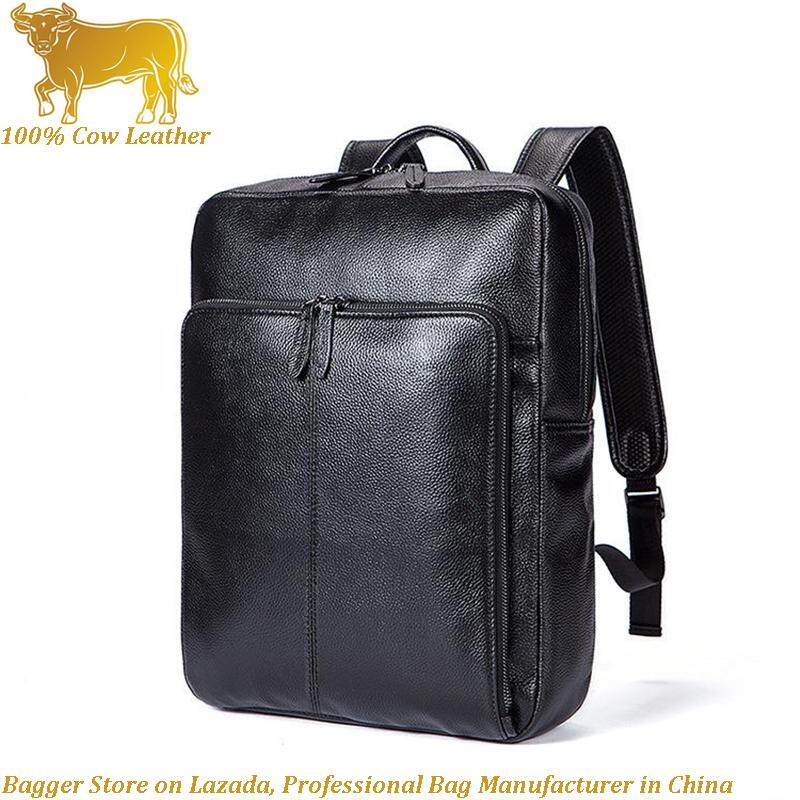 8439f624674 Backpack For Men Genuine Cow Leather 2019 New Shoulder Bag Laptop Bags  Outdoor Travel Casual