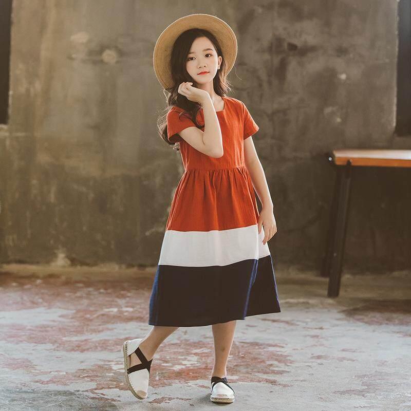 Đầm bé gái Xuân Hàn Quốc 2019 Đầm Công Chúa Trẻ Em Váy Đồng Màu Quần Áo Trẻ Em