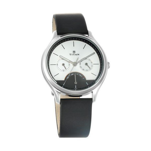 Titan 1803SL01 Workwear Watch with Silver Dial & Leather Strap Malaysia