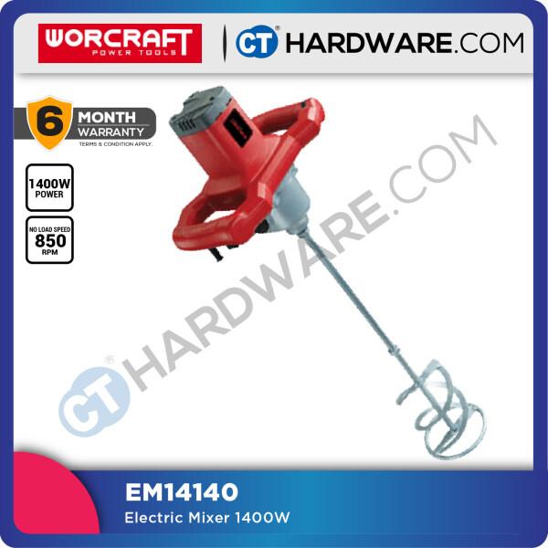 Worcraft EM14140 Electric Power Mixer 1400W 300-650Rpm 140mm