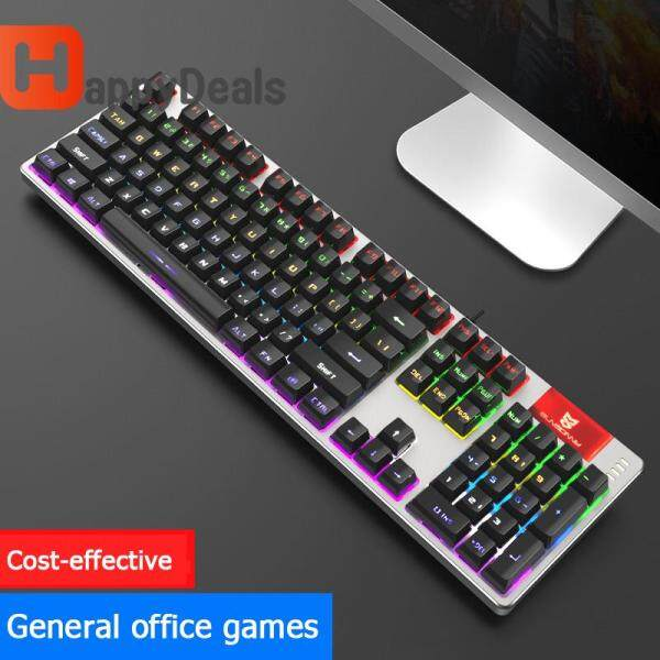 S-J2Pro USB Wired Gaming Keyboard 26 Keys Rollover Backlit Mechanical Keyboard Computer Accessories Singapore