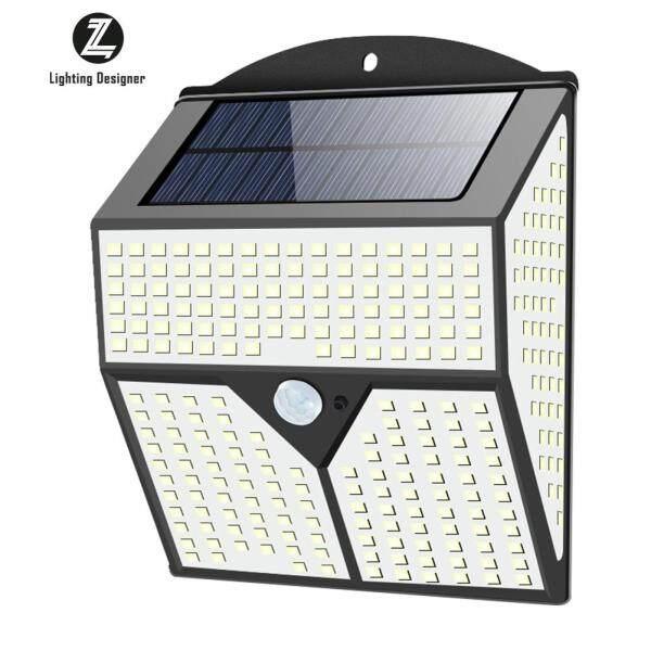 Đèn LED Năng Lượng Mặt Trời 436 Đèn Cảm Biến Chuyển Động PIR Sáng An Ninh Ngoài Trời