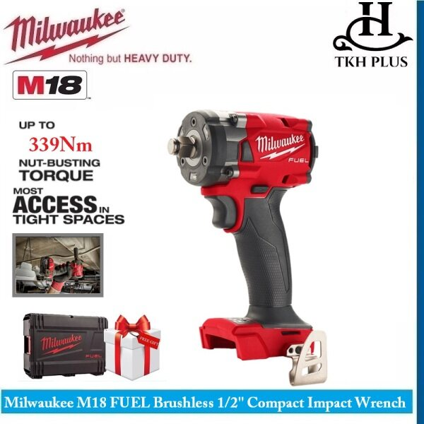 Milwaukee M18 FUEL Brushless Cordless 1/2 Compact Impact Wrench (bare tool) M18 FIW212-0