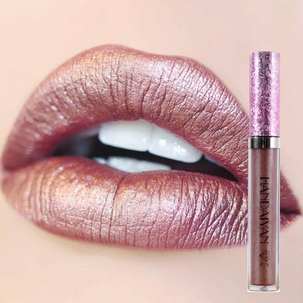 Berlian Mutiara Bibir Indah Gloss Matte Terus-menerus Lipstick Cair Lipstik Mengkilap
