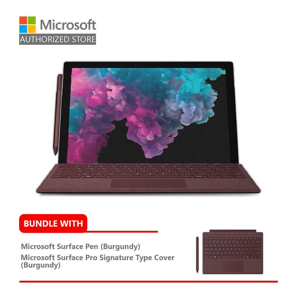 Microsoft Surface Pro 6 i5/8GB RAM - 128GB + Type Cover (Burgundy) + Pen (Burgundy) Malaysia